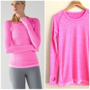 Lululemon | Pink Long Sleeve Swiftly Tech Tee 10